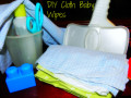 Homemade Baby Wipes, Using Recycled Receiving Blankets