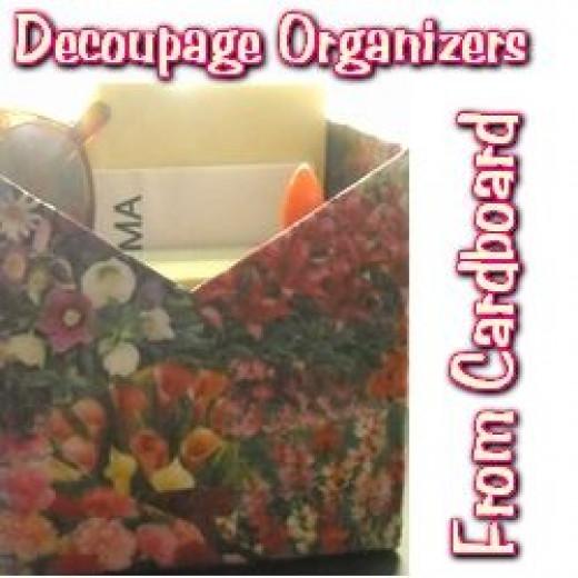 Decoupage Organizers