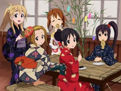 K-ON Members - Kimono Version