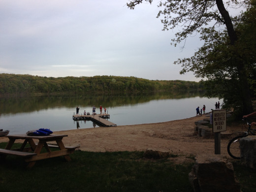 Our 'new' campground has a lake!