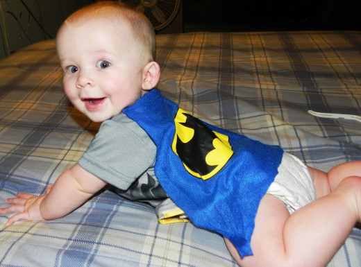 See the cape? I love this picture, he's my little superhero for sure!
