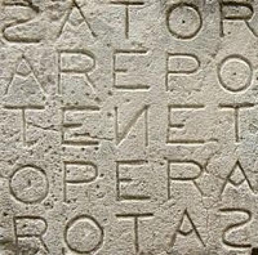 Latin Sator Palindrome