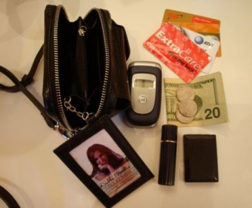 Put all these essentials into this cool purse