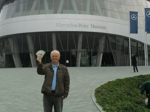 Archie Park introduces The Five Dollars to Mercedes Benz in Stuttgart, Germany