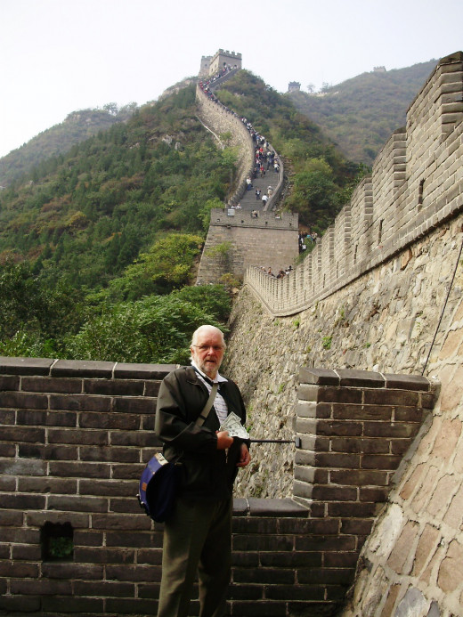 My Dad Introduces The Five Dollars to The Great Wall of China During his Recent Asian Trip