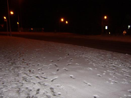 The main road near my house