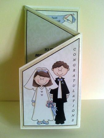 To the bride and groom cascade card