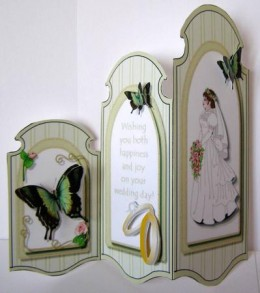 Butterfly trifold wedding card