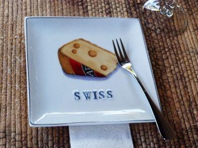 Swiss cheese plate