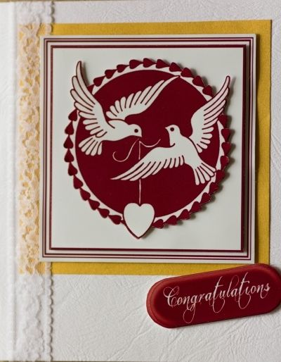 Red Dove Silhouette Card