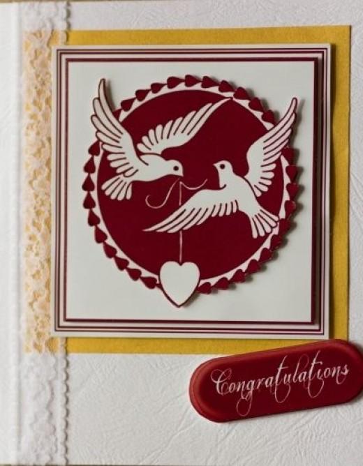 Red Dove Silhouette Card