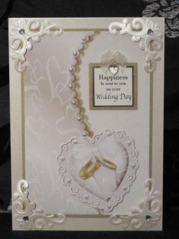 Ring pillow decoupage card