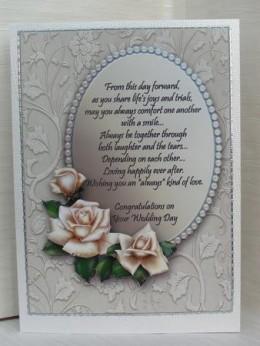 Wedding day white rose decoupage