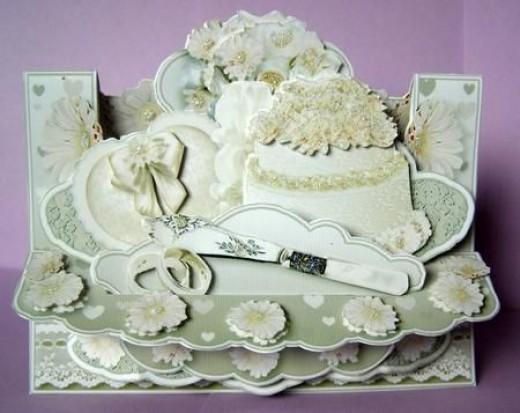 3D Wedding day card kit