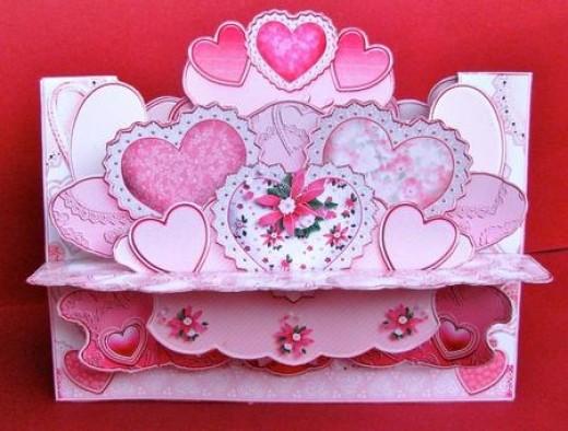 Pink Hearts 3D Card Kit