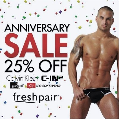 Chuck Strogish For Calvin Klein at Freshpair.com NYC