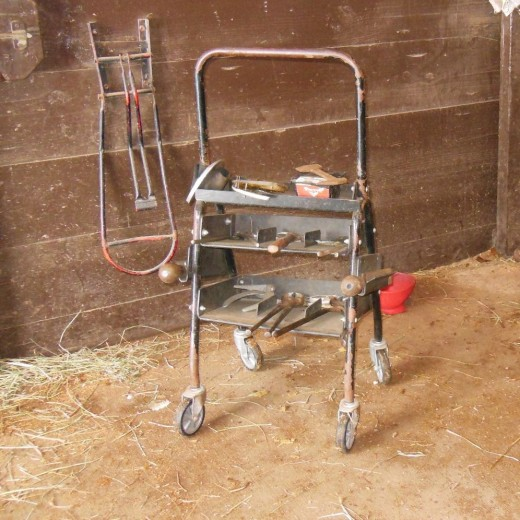 These are some of the tools that a farrier uses.