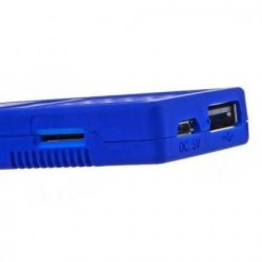 Closeup of micro USB and USB port on UG802