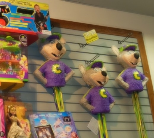 So many prizes to choose from!  They even have Chuck E. pinatas!