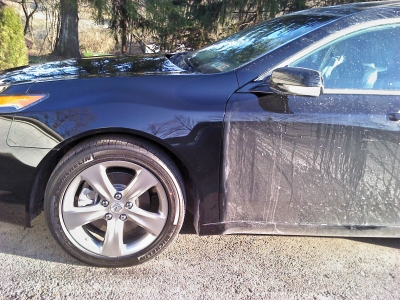Acura TL On It's Way To After With Our Highest Quality England Car Show Waterless Wash & Wax.