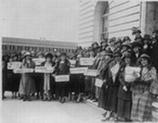 Temperance Protest in Washington D.C. in Support of Prohibition