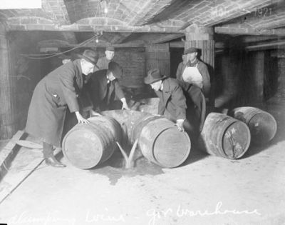 Prohibition Agents Destroying Alcohol in Chicago