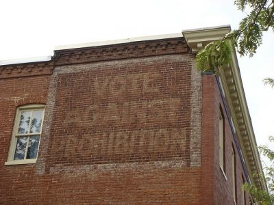 Vote Against Prohibition Sign in Baltimore, Maryland