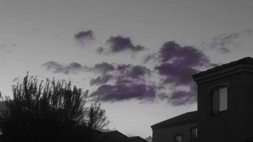 A Purple Arizona Nightfall
