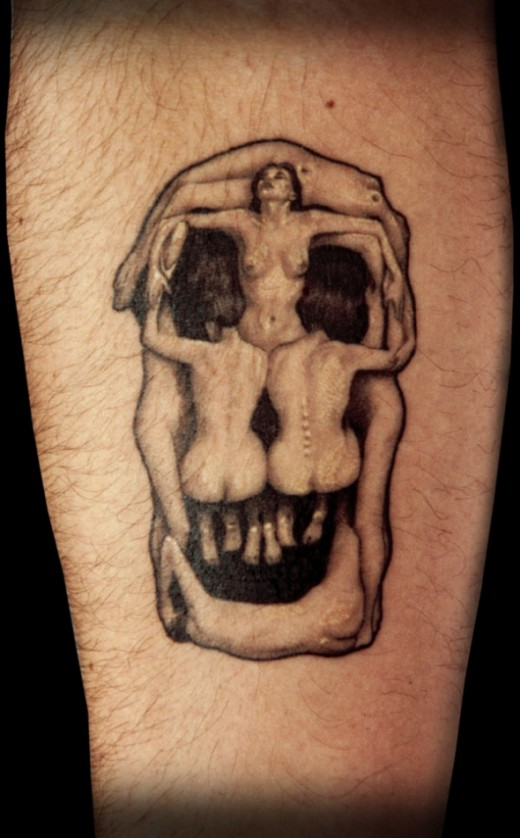 Women Skull (Tattoo pic) - Salvador Dali
