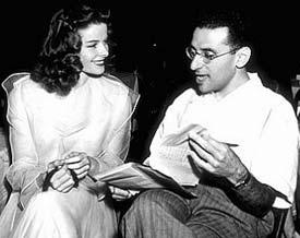 Cukor with Katharine Hepbkurn on the set of The Philadelphia Story