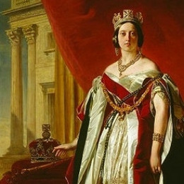 Portrait of Queen Victoria in 1843.