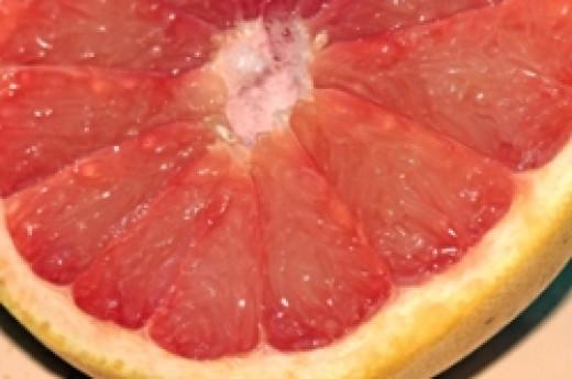 Pink grapefruit  (Photo Cheryl Rogers)