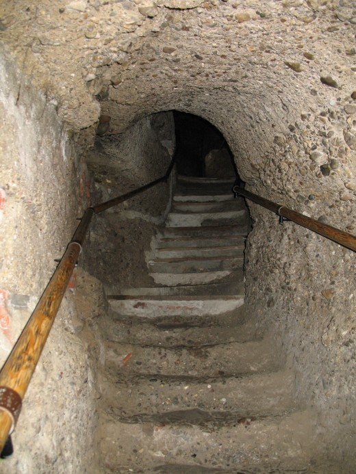 Stairs to catacombs