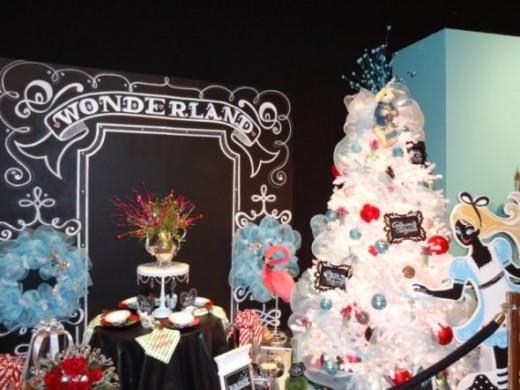 Alice in Wonderland Vignette - Festival of Trees