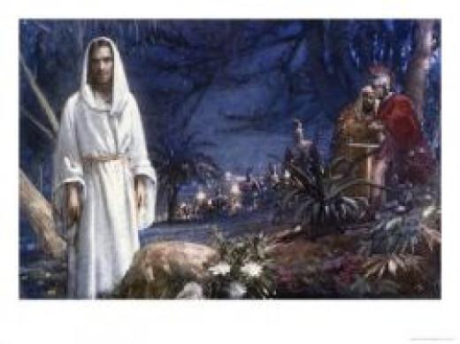 Jesus at Gethsemanea