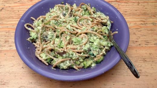 vegetarian spaghetti supper