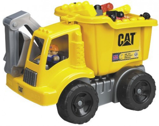 Caterpillar Big Bloks brings construction and destruction to your child's work site.