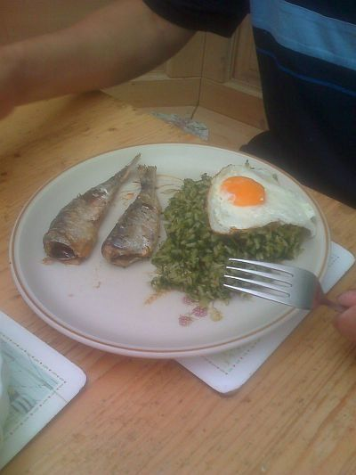 Try Spinach Rice With Sardines