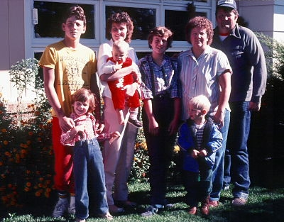 This photo: Oldest son..back left, is now married with two young children, eldest daughter to his right is married with 2 grown children, middle daughter is married and a teacher in Oregon, the little girl in front is grown and a lawyer in Idaho, the