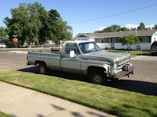 """This truck is fondly known as """"The Old Bean Sheller"""" We've had her since 1977. She has seen many trips to the cabin and fishing at Little Camas but is mostly retired now."""