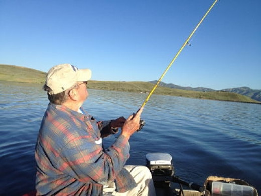Tom did catch the most fish that day. That was okay b/c he hadn't caught any at all for awhile.