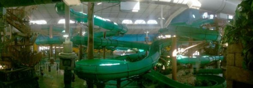 Indoor Water Slides!
