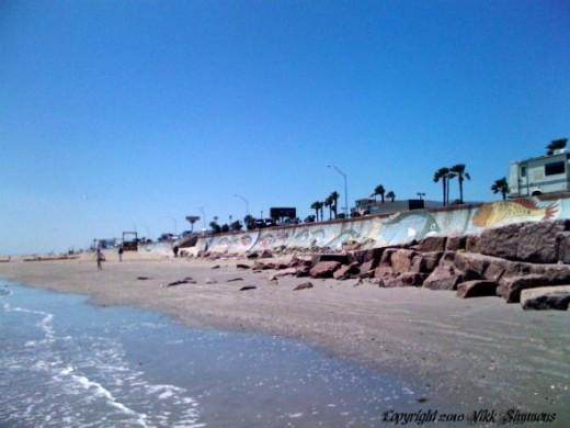 A walk along Galveston beach copyright 2010 Vikk Simmons