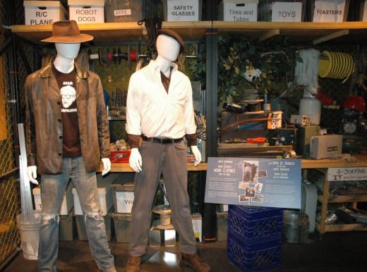 Mannequins dressed to look like Jamie and Adam.