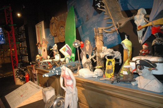 Here are some of the props that they used on the show.