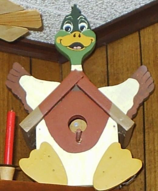 duck wood bird house