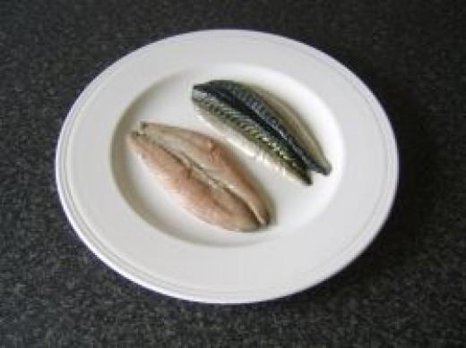 Supermarket bought mackerel fillets