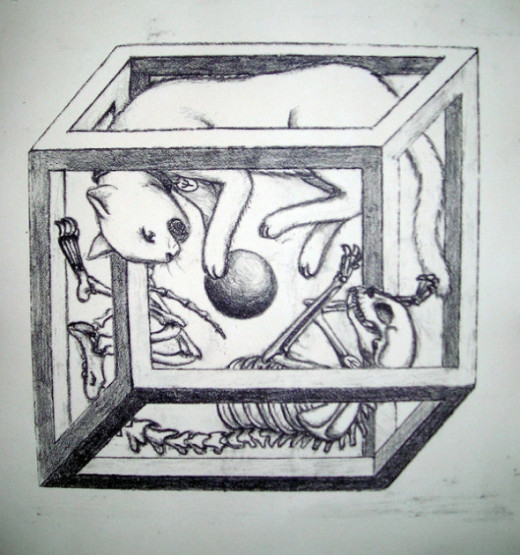 The Necker cube effect is seen in this illustration, offered by Jie Qi. Source: Jieq, Flickr.