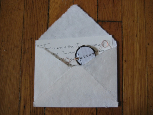 Thaumatropes could be easily enclosed in mail to send a little love. Source: Kate Hartman, Flickr.