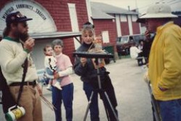 Impromptu performance on the midway at 1992 WVF.